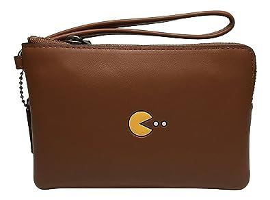 Coach Pac Man Corner Zip Wristlet Saddle 54841  Handbags  Amazon.com d7956f57e95df