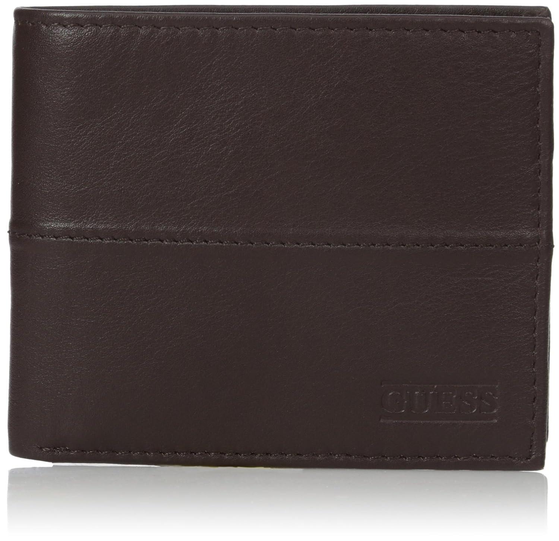 Guess Men's Rafael Multi-Card Passcase Wallet Brown One Size GUESS Men's Accessories 31GU22X040