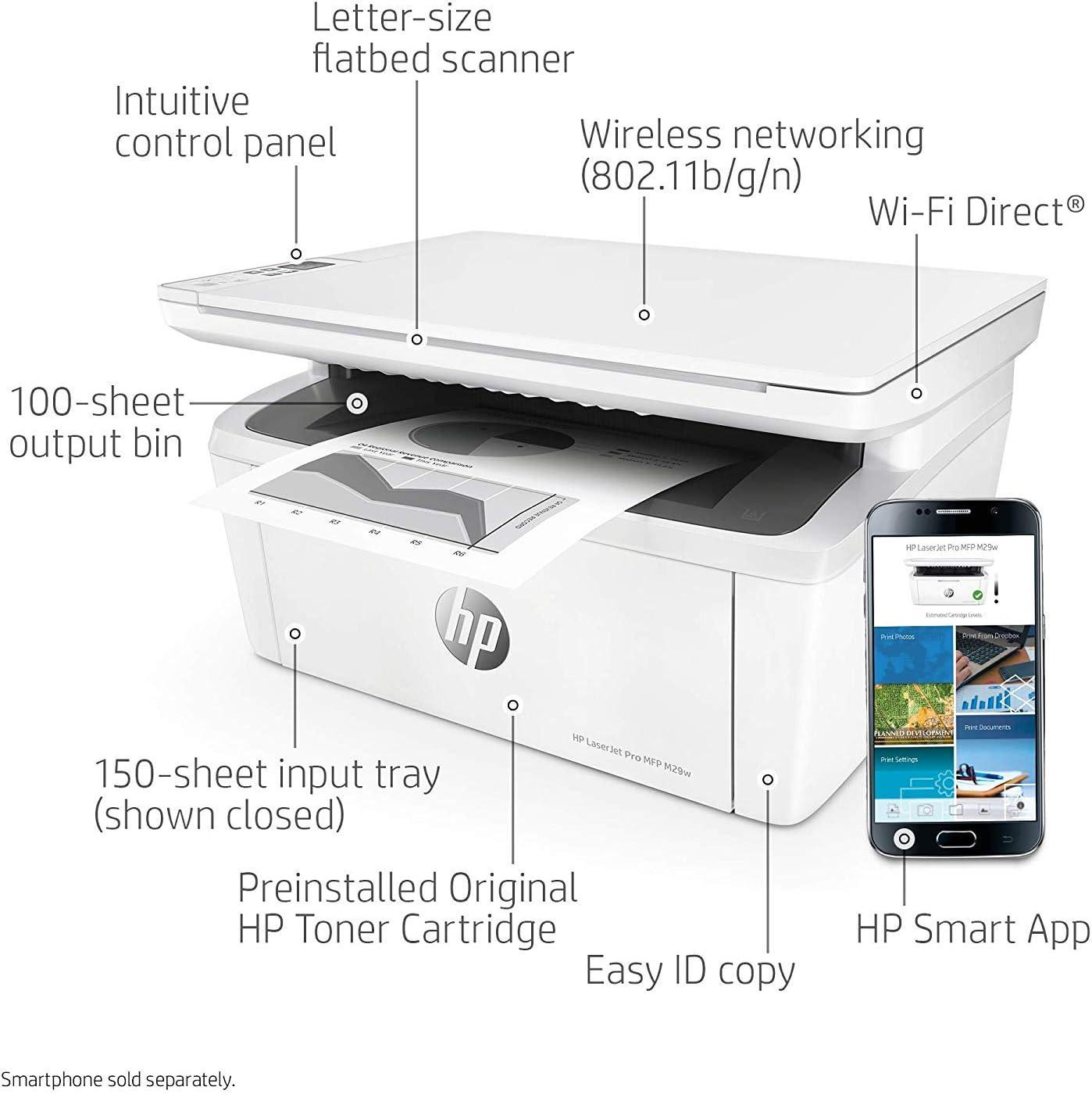 Amazon.com: Impresora láser monocromática inalámbrica todo ...