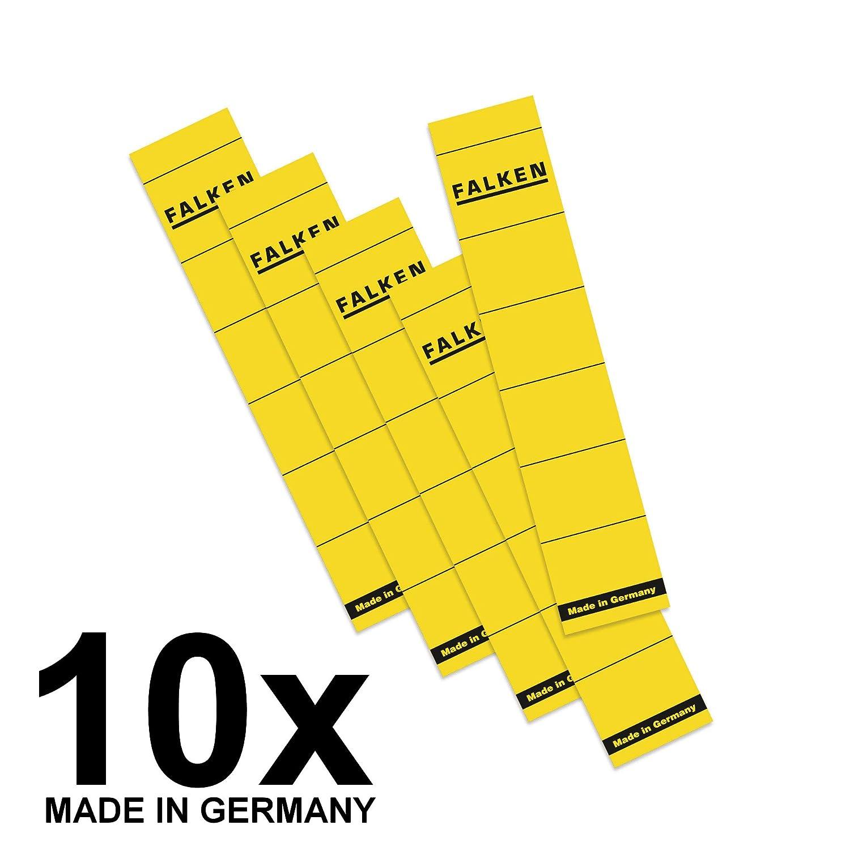 FALKEN 11286879 carta Targhette per dorso, corta, autoadesivo, colore: giallo