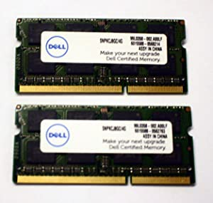 Dell Laptop 8GB 2x4GB PC3-12800 DDR3-1600MHz Non-ECC Unbuffered 204-Pin SoDimm Memory Module Mfr P/N SNPKCJ8GC/4G