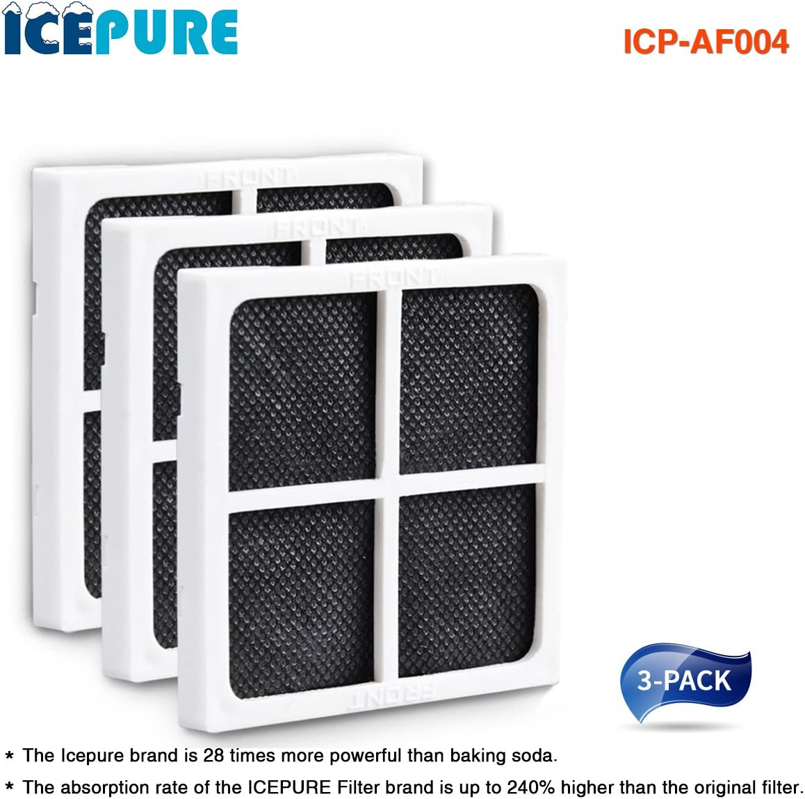 ICEPURE icp-af004 – 3 Pack Pure Filtro de Aire para frigorífico ...