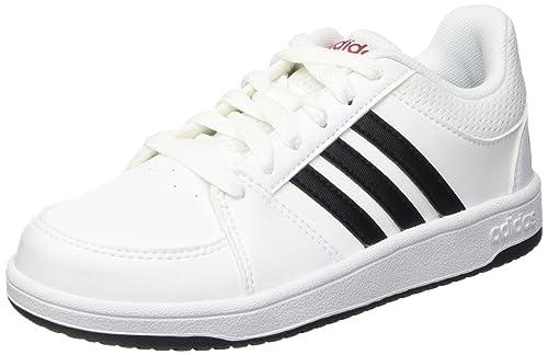 adidas Hoops Vs K, Scarpe da Basket Bambino, Bianco (Ftwwht/Cblack/