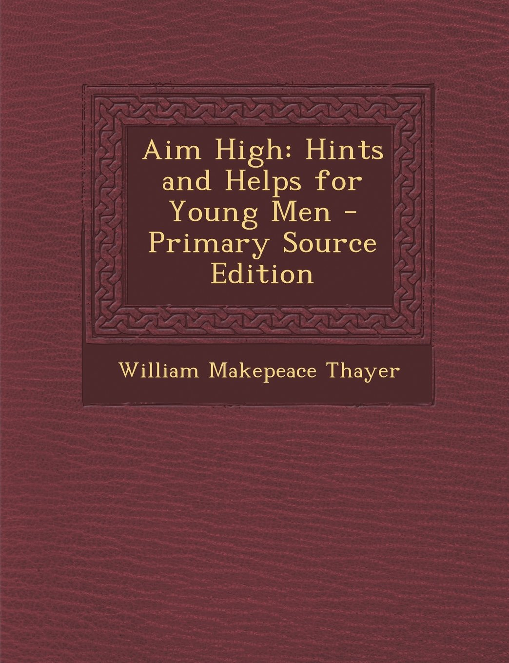 Read Online Aim High: Hints and Helps for Young Men - Primary Source Edition pdf