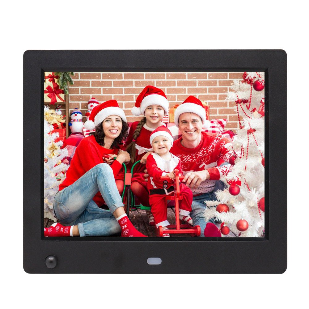 Inkach 8 Inch Digital Photo Frames Front Touch Screen High-Definition Widescreen LCD Digital Picture Frame with Motion Sensor (Black)