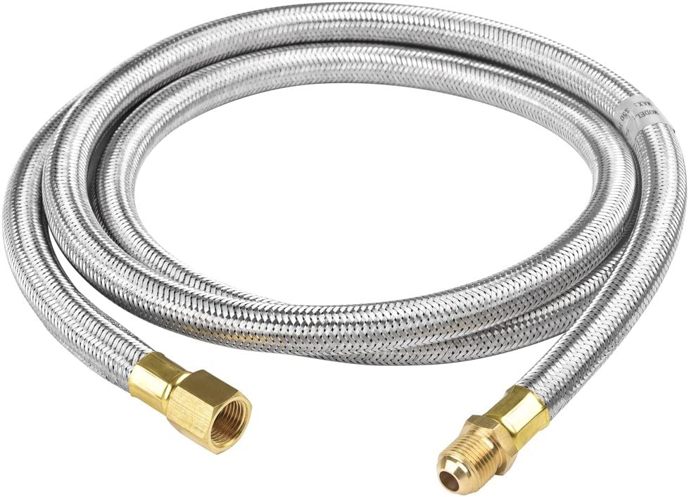 SHINESTAR 6 Foot Propane Extension Hose - 3/8inch Male x Female Flare Fittings for RV, Gas Grill, Fire Pit, Heater, etc