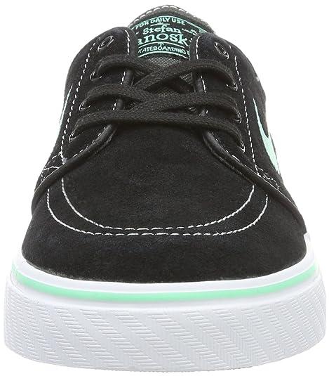 Amazon.com | NIKE Zoom Stefan Janoski Black, Green Glow, White Skate Shoes-Men 11.5, Women 13 | Skateboarding