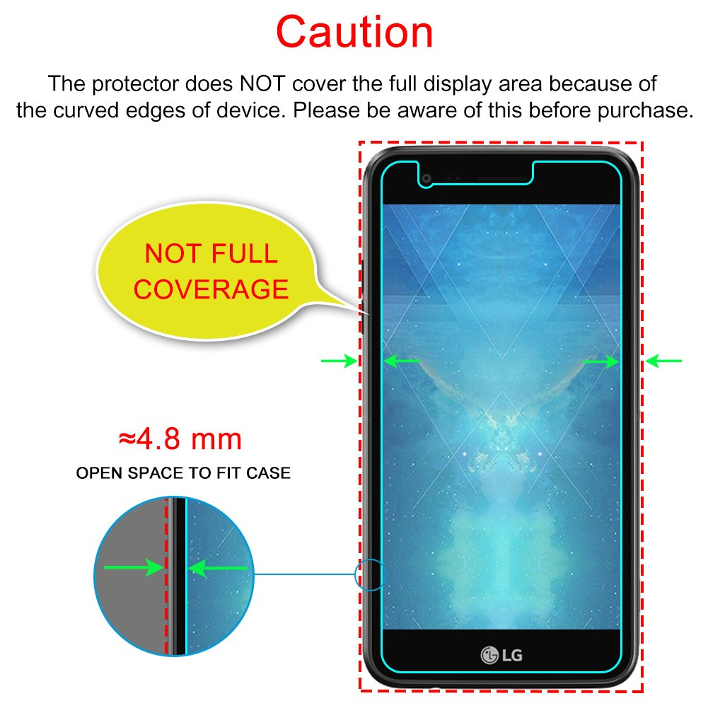LG K4 2017 Protector de Pantalla (3 Paquetes), J&D [Cristal Templado ...
