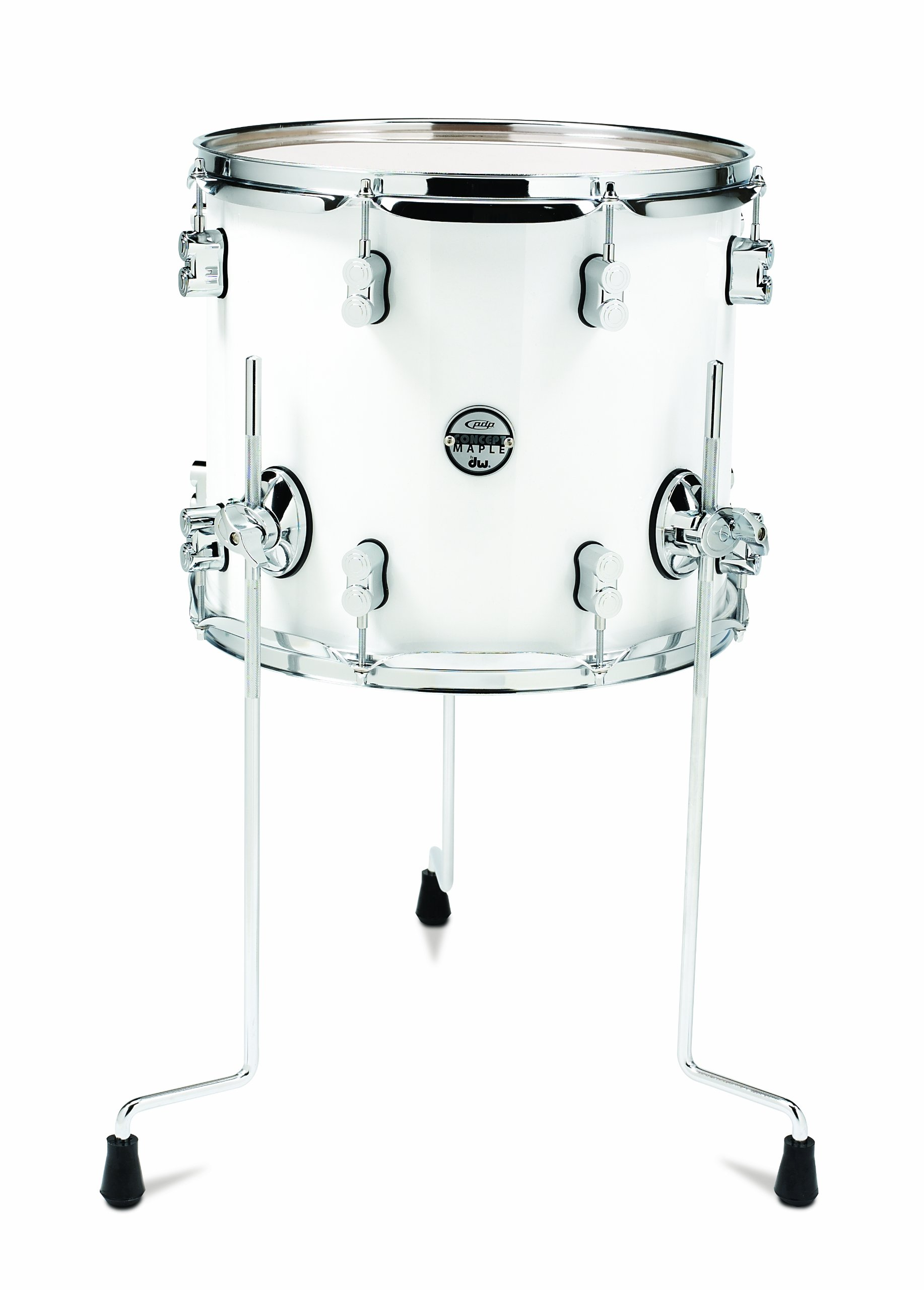 Pacific Drums PDCM1214TTPW 12 x 14 Inches Floor Tom with Chrome Hardware - Pearlescent White by Pacific Drums