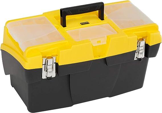 STANLEY 1-92-911 - Caja de herramientas con cierres metalicos / 48 cm: Amazon.es: Bricolaje y herramientas