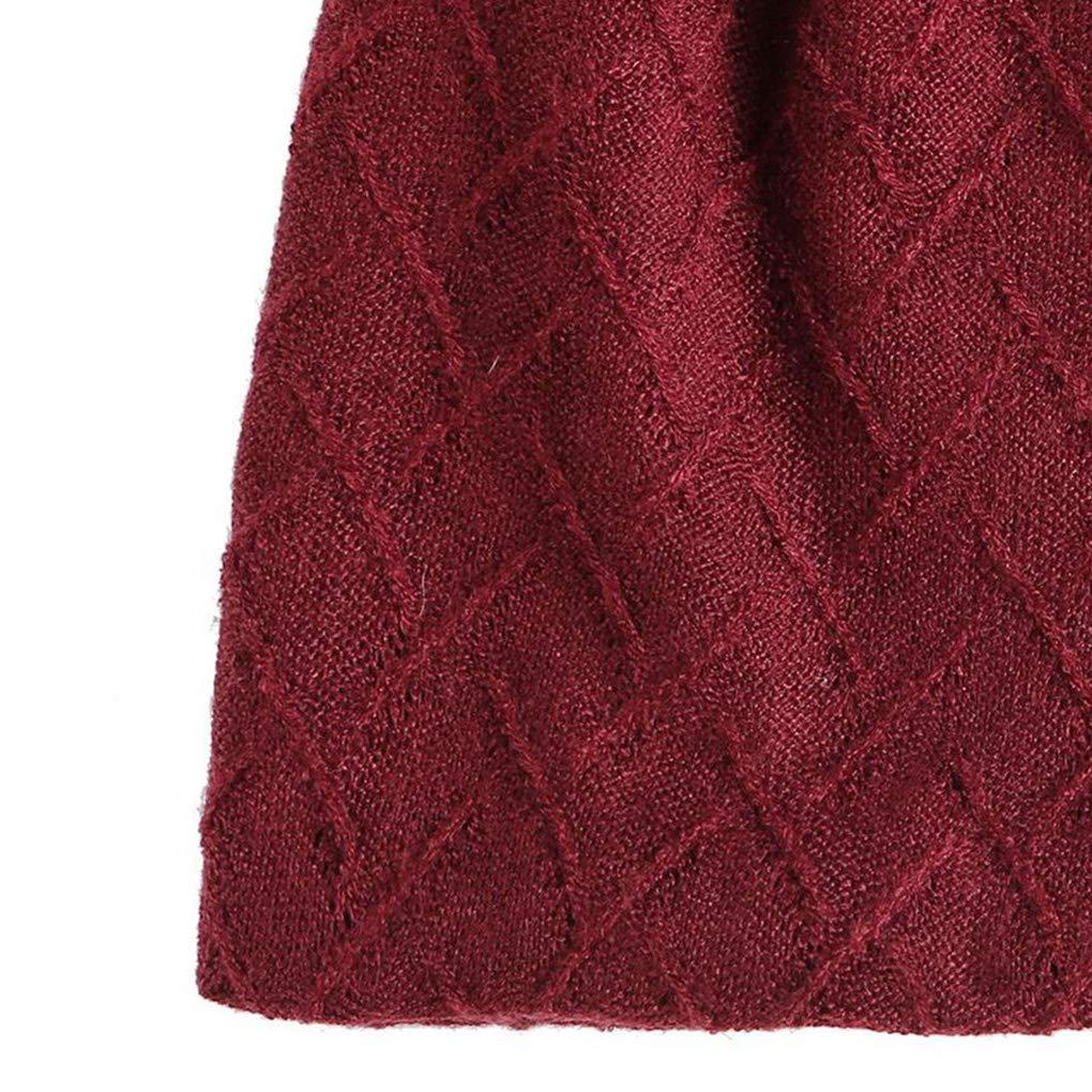 Busirde Donne Uomini Ragazzi Calda Inverno Sci ricopre i Cappelli Sport Outdoor Autunno Inverno Beanie Skullies Solid Nero