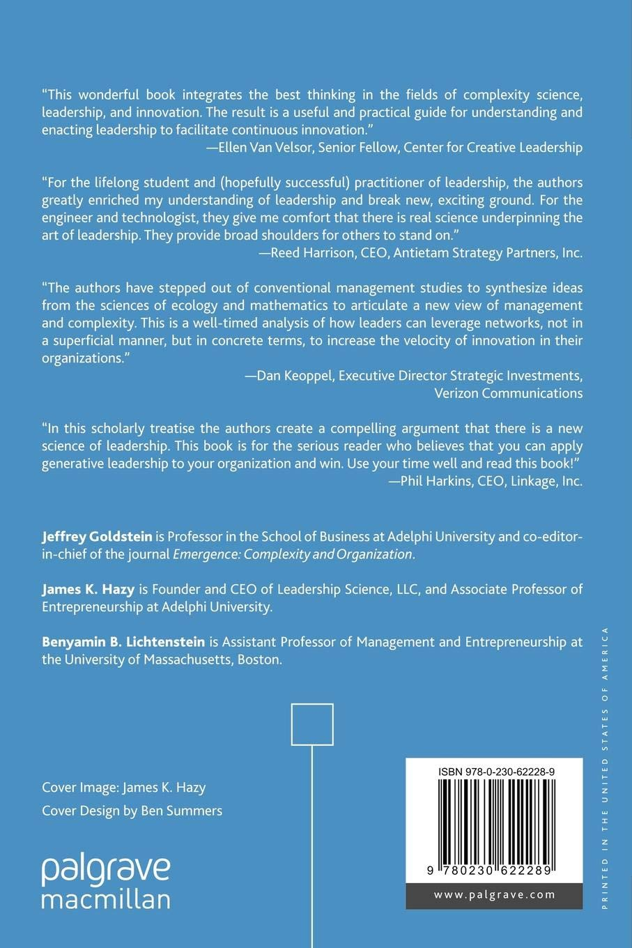 Complexity and the Nexus of Leadership Leveraging Nonlinear Science to Create Ecologies of Innovation