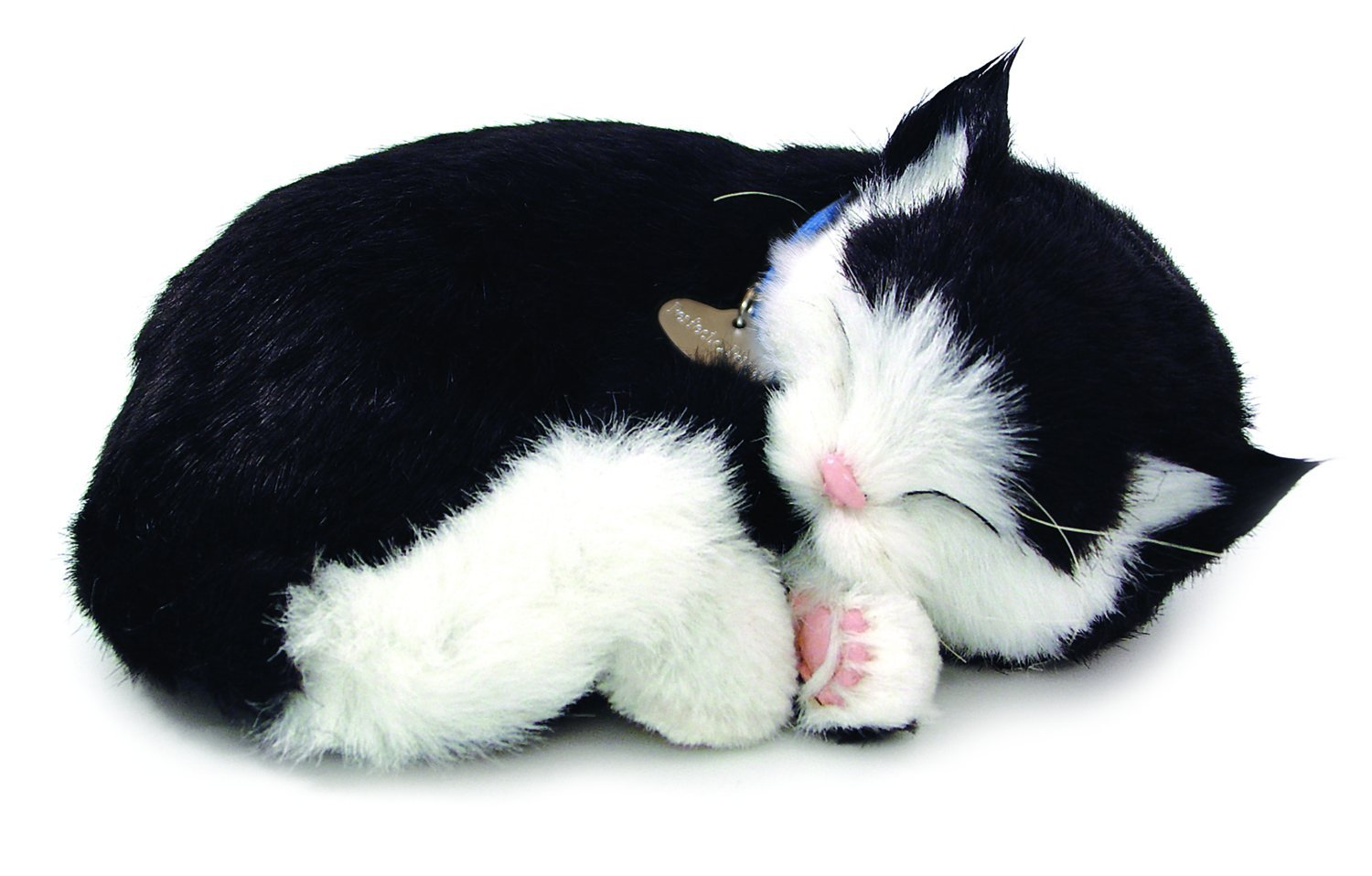 Perfect Petzzz Black and White Shorthair Kitten Plush