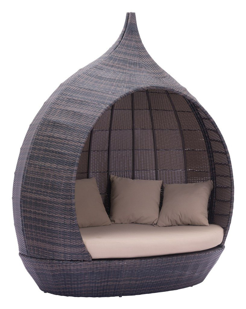 outdoor patio daybed. Amazon.com : Modern Contemporary Outdoor Patio Daybed, Beige, Rattan Garden \u0026 Daybed D