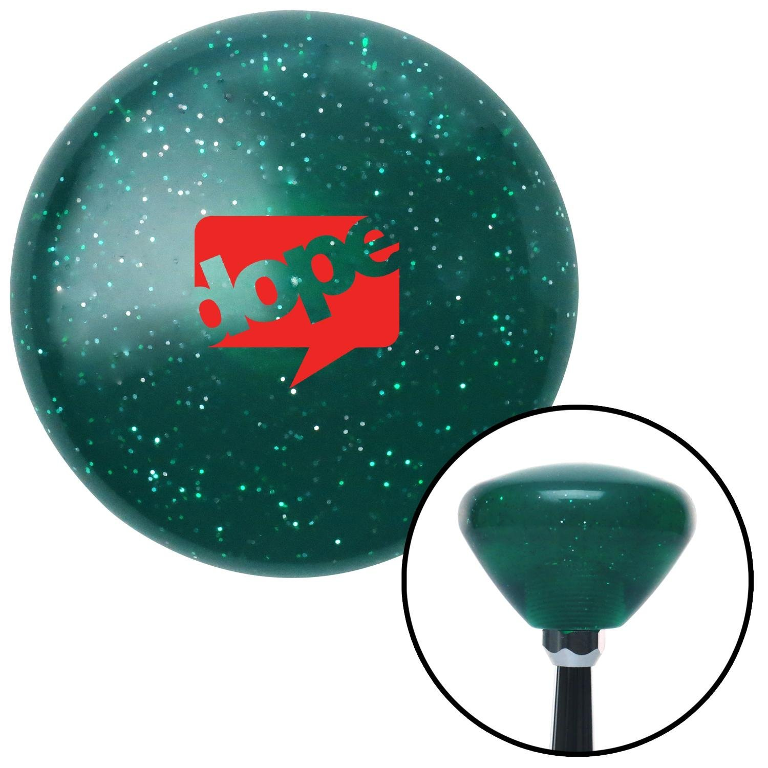 American Shifter 292469 Shift Knob Red Dope Bubble Green Retro Metal Flake with M16 x 1.5 Insert