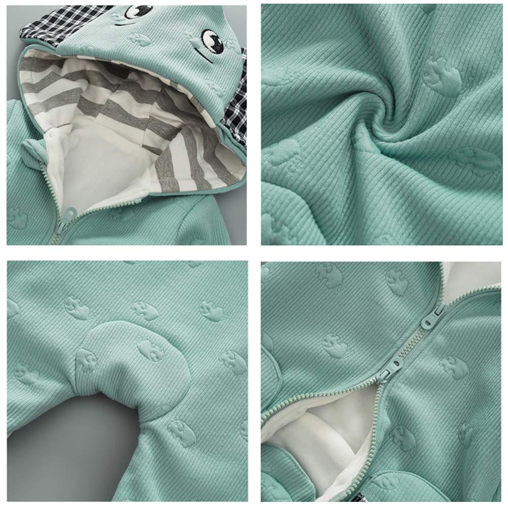 Odziezet Pagliaccetti Zip up con Cappuccio da Bimbo Tutine Attrezzatura Animale Cotone Imbottitura in Cotone 0-14 Mesi