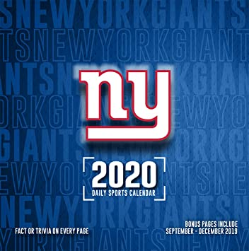 Giants Schedule 2020.Amazon Com New York Giants 2020 Calendar Office Products