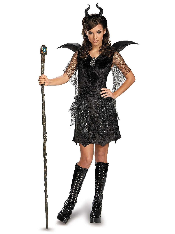 Disney Maleficent Movie Black Gown Tween Deluxe Costume X Large 14 16