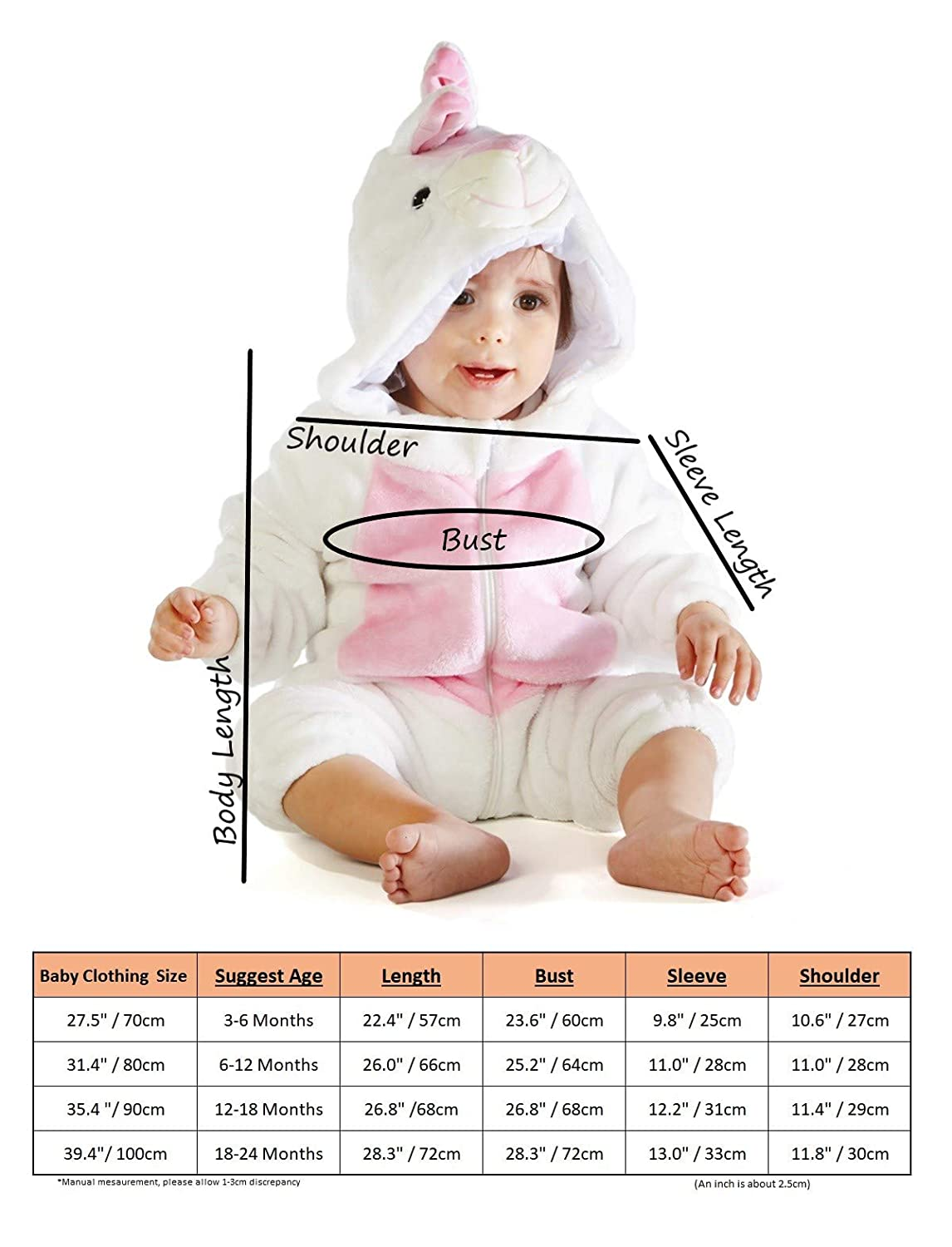 M/&M SCRUBS Animal Cosplay Outfits Infant Costume Boys Girls Winter Flannel Romper