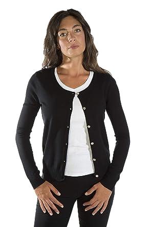 purchase cheap b5237 8a32d MY BASIC Cardigan Donna in Maglia Stretch con Bottoni Gioiello