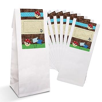 10 pequeñas bolsas de regalo + blancos Pergamino de Einlage ...