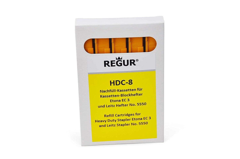 REGUR HDC 8 Yellow Staple Cassette Refills (25-40 Sheets ) for Etona EC3 Dr. Gold & Co.