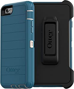 OtterBox Defender Rugged Case for iPhone 6/6S - OtterArmor Microbial Defense Technology - Retail Packaging - Big SUR (Pale Beige/Corsair)