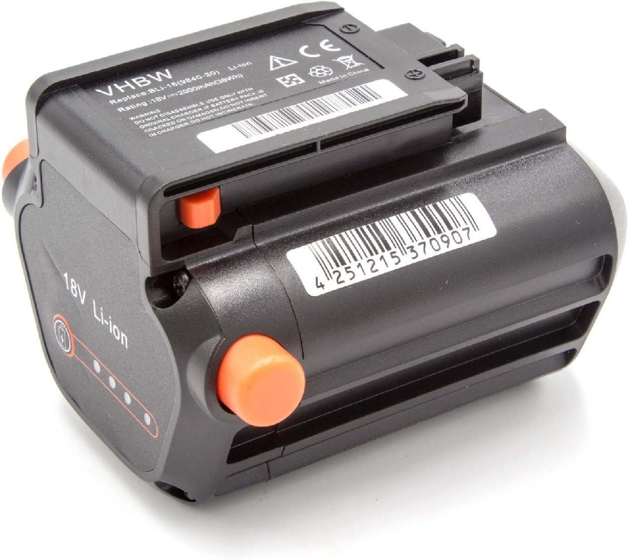 ComfortCut Li-18//50 /& Li-18//60 wie BLi-18 vhbw Akku passend f/ür Gardena Akku-Heckenschere EasyCut Li-18//50 Li-Ion, 1500mAh, 18V 9840-20 9839-20 -