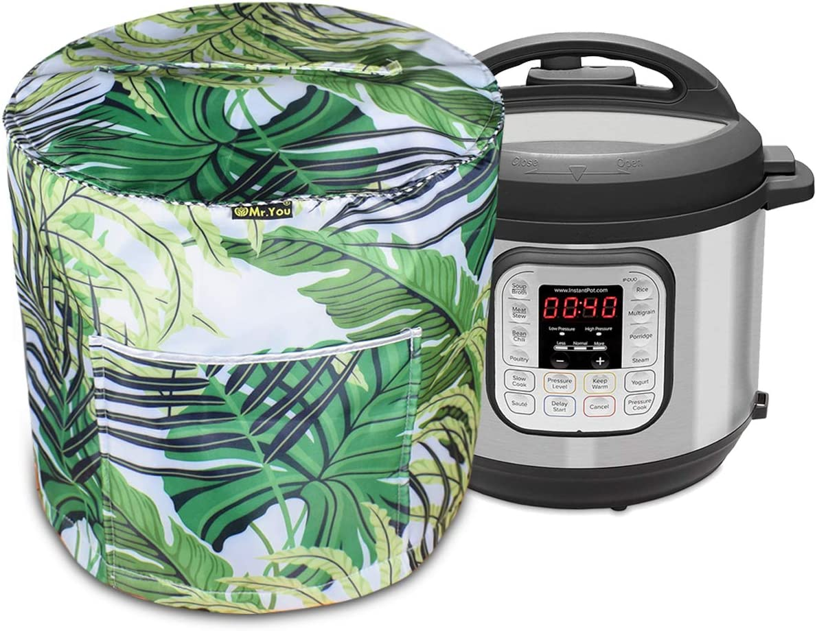Pressure Cooker Covers,Rice Cooker Cover,Pressure Cooker Cover Front Pocket for Accessories(Green field)