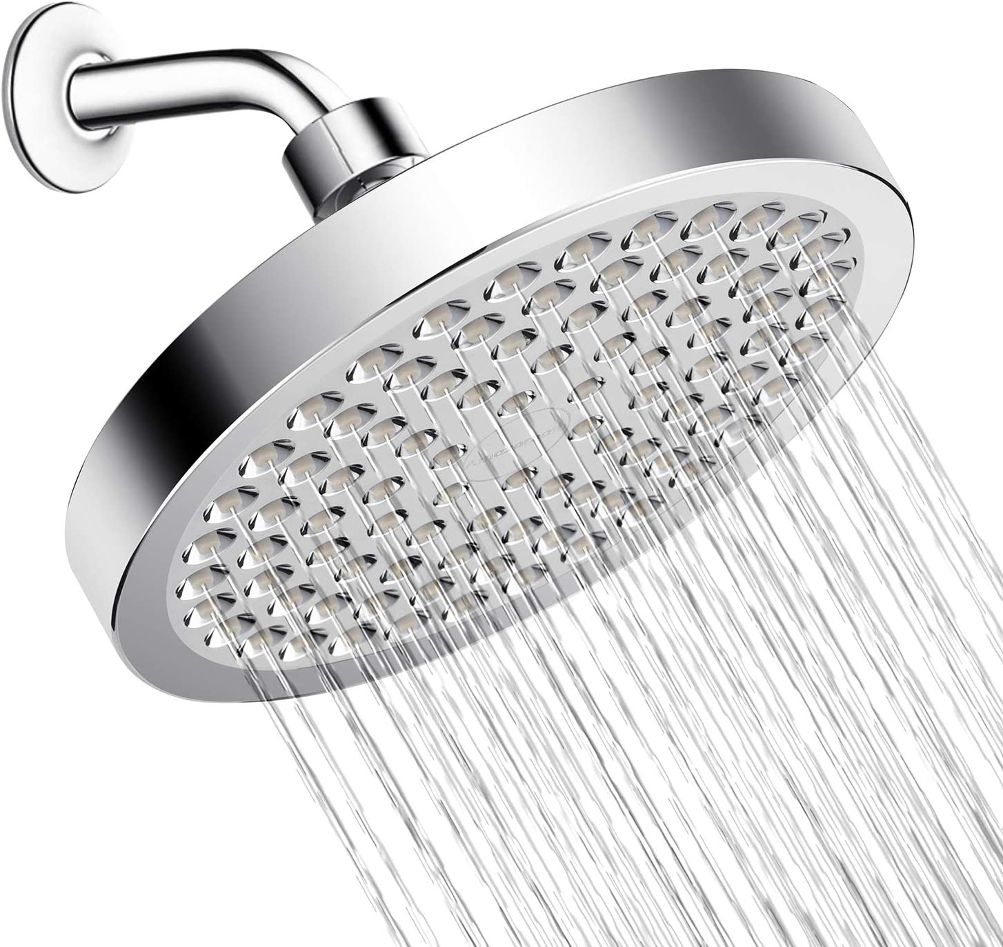 Amazerbath High Pressure Shower Head Fix Shower Head Anti Clog Anti Leak Rain Shower Head With Luxury Modern Chrome Amazon Com
