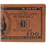 Men Pockets Card US Dollar Bill Money Wallet Foldable PU Dollar Wallet Dark Brown