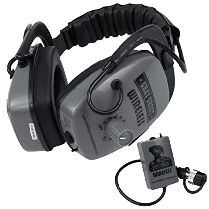 Amazon.com : DetectorPro Gray Ghost Platinum Series Wireless Headphones for Garrett at Pro : Garden & Outdoor