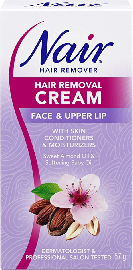 Nair Hair Removal Cream For Face Upper Lip With Sweet Almond Oil