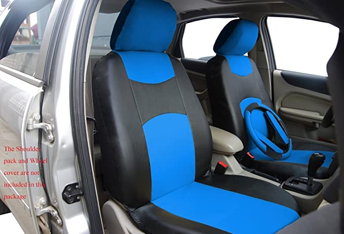 Cloth Fabric 6 PCS Set Front Car Seat Covers For Lexus M1410 GRAY