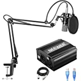Neewer NW-700 Condenser Microphone Kit with USB 48V Phantom Power Supply, NW-35 Suspension Scissor Arm Stand, Shock…