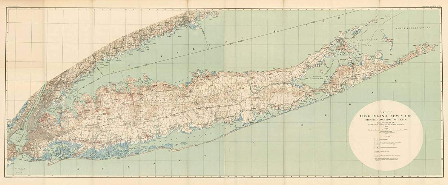 Map Of New York City And Long Island.Amazon Com Historic Pictoric Map Long Island New York City 1904
