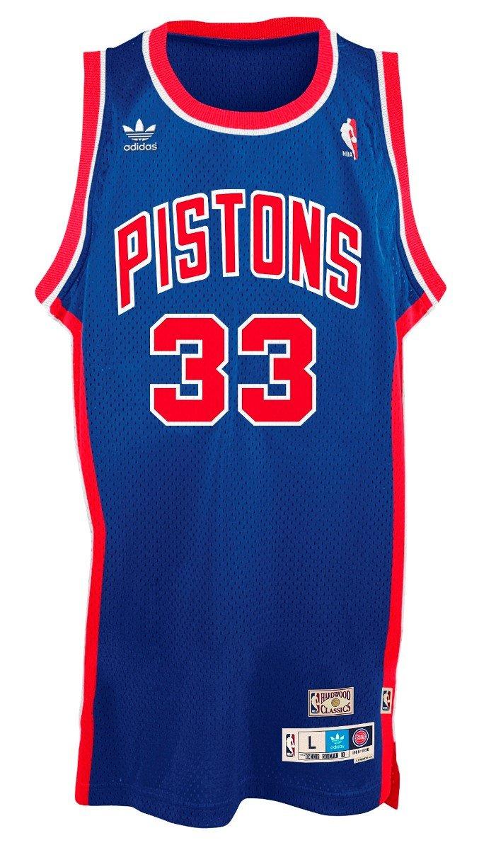 f58419ee3d2 Amazon.com : adidas Grant Hill Detroit Pistons NBA Throwback Swingman  Jersey - Blue : Sports & Outdoors