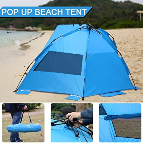 Yaheetech Easy Setup Umbrella Beach Tent Pop up Beach Tent Outdoor Blue & Amazon.com : Yaheetech Easy Setup Umbrella Beach Tent Pop up Beach ...