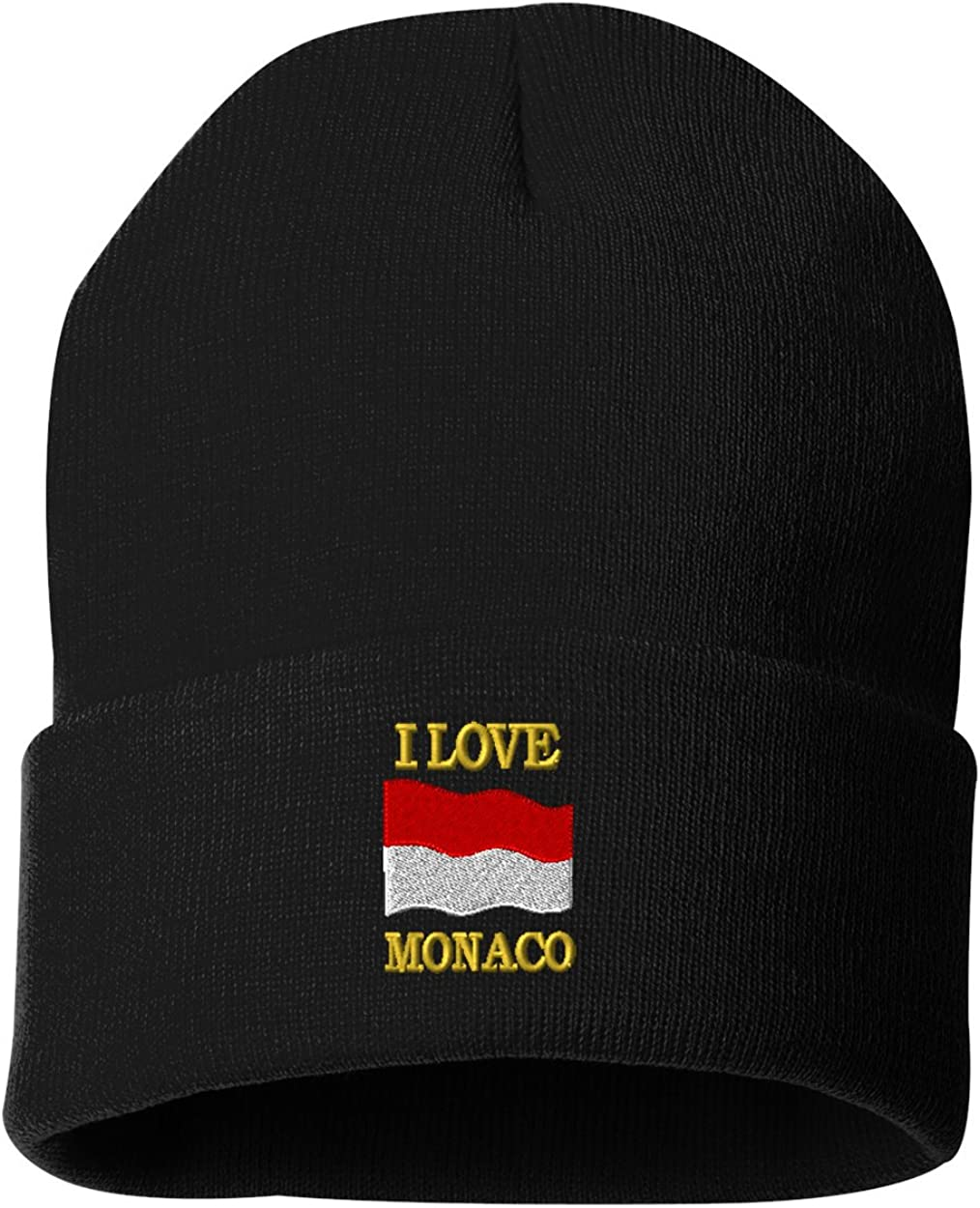 I LOVE MONACO Custom Personalized Embroidery Embroidered Beanie