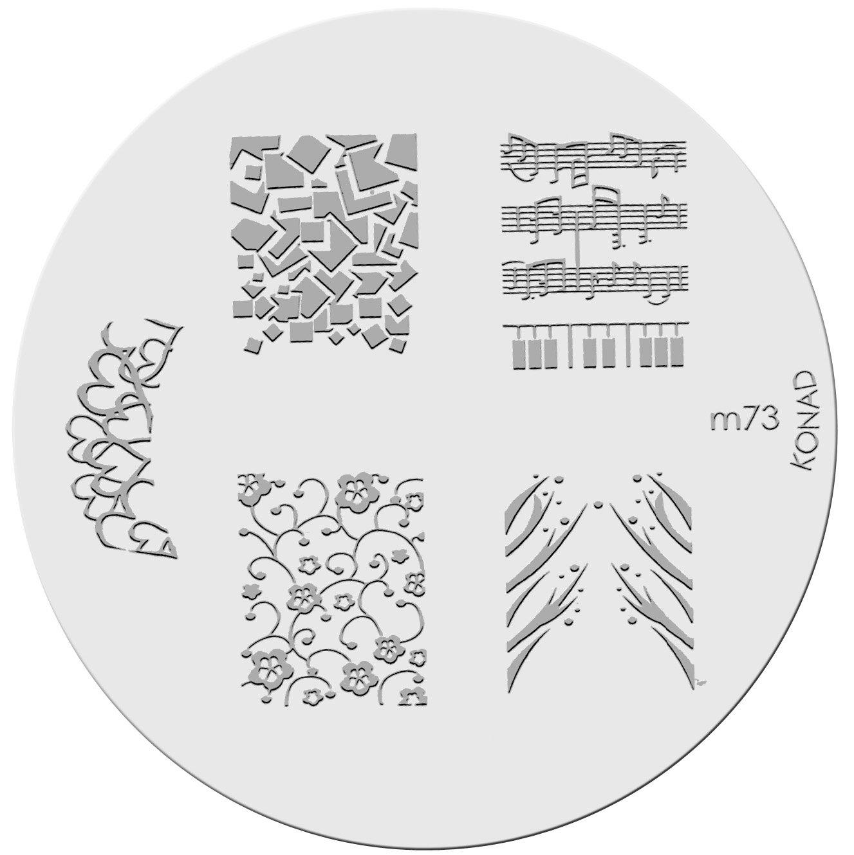 Amazon.com : Konad Stamping Nail Art Image Plate - M51 : Nail Art ...