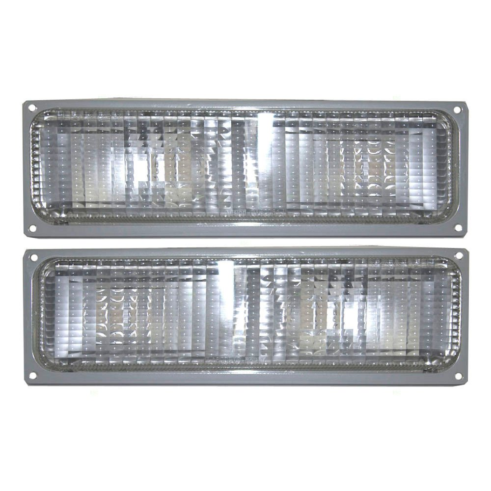 Fleetwood Discovery 1999-2002 RV Motorhome Pair (Left & Right) Replacement Front Corner Turn Signal Lights