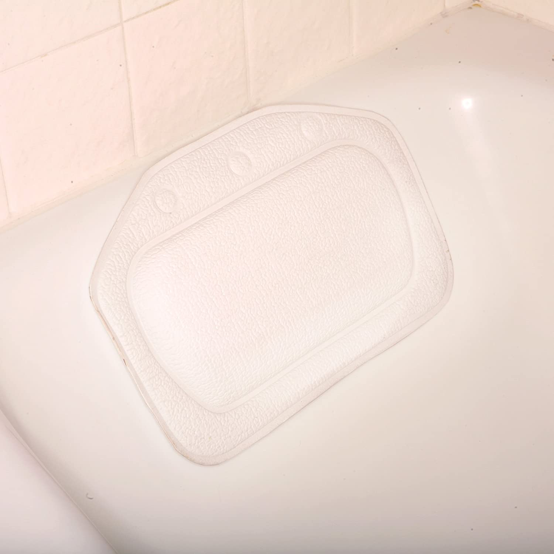 Bath Cushion - Foam Bath Cushion - White Deluxe Comfort BTFM-002-01
