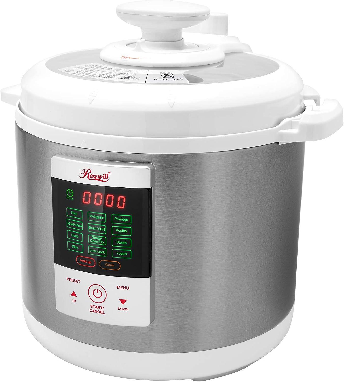Rosewill RHPC-15001, Pressure Cooker, Non-Stick Pot/White