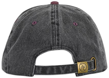 d918ee85c6cf4 JLGUSA Dad Hat Pigment Dyed Two Tone Plain Cotton Polo Style Retro Curved Baseball  Cap (Black Burgundy) at Amazon Women s Clothing store