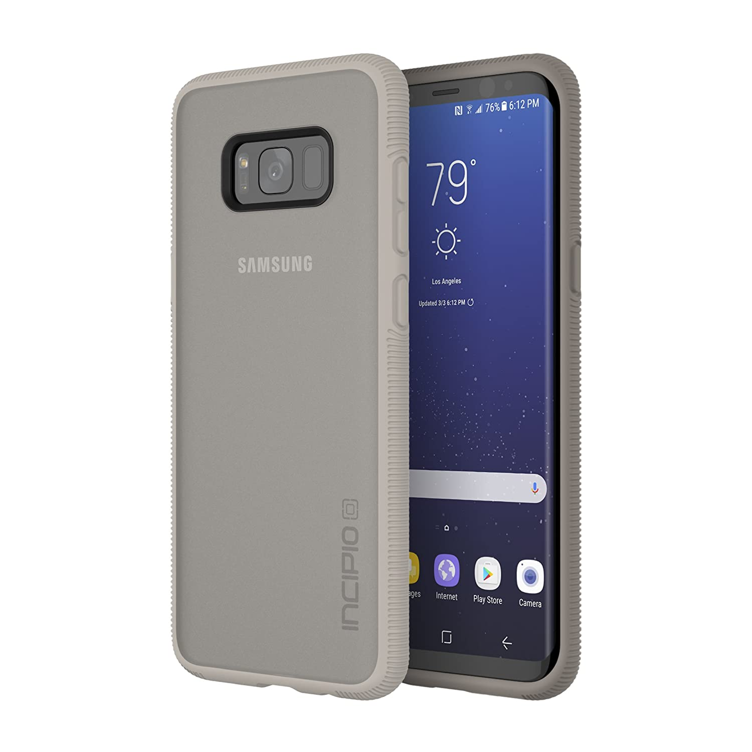 Samsung Galaxy S8+ Case, Incipio [Co-Molded] [Shock Absorbing] Octane Case for Samsung Galaxy S8+-Sand