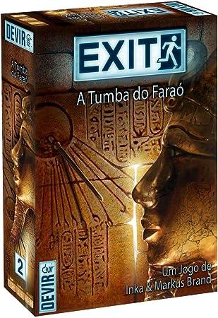 Devir- Tumba do faraó Juego Escape Room, Multicolor (BGEXIT2PT): Amazon.es: Juguetes y juegos