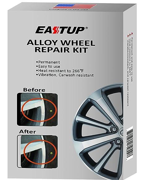 eastup Kit de reparación de llantas de aleación restauración herramientas Fix arañazos, ligero abolladuras,