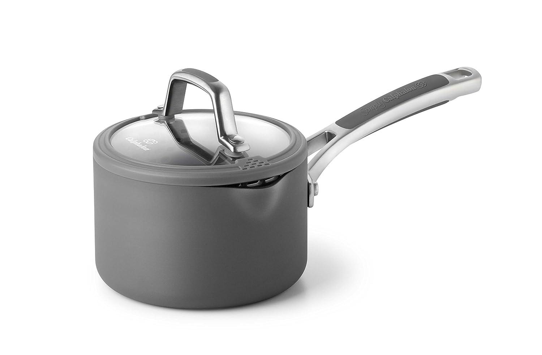 Calphalon Easy System Nonstick Sauce Pan, 1 1/2 quart, Black