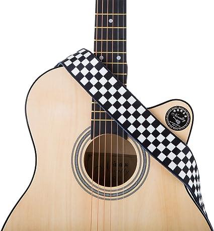 Correa para guitarra acústica de poliéster con impresión de bajo ...