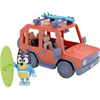 Bluey, 4WD Family Vehicle, 4 Figures and 1 Vehicle Family Fun | Customizable Car - Adventure Time | for Ages 3+